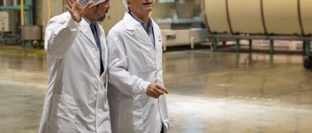 Macri, de visita en Molinos. Fuente: NA