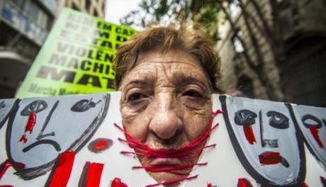 Protesta de mujeres en Sao Pâolo, Brasil. Imagen: Cris Faga / NurPhoto / SIPA USA / PA