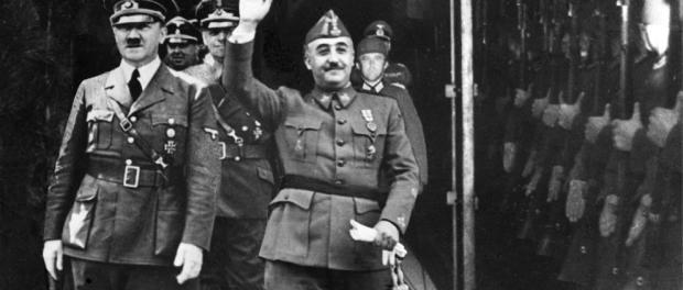 FotografÃa difundida en España por la Agencia Efe de la entrevista de Francisco Franco